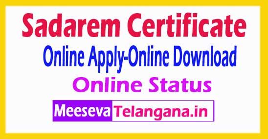 Telangana TS Sadarem Certificate Status SADAREM ID Registration Online Sadarem Disability Certificate status