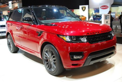 Range Rover Sport: red color