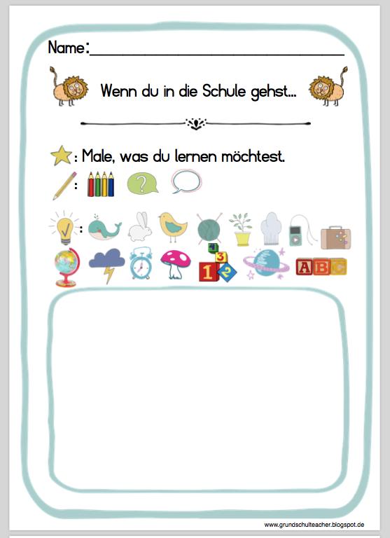Vorbereitungen: 1. Schultag – Bilderbuch: Wenn ein Löwe in die ...