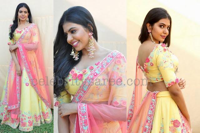 Rajashekar Daughter Shivani Floral Lehenga