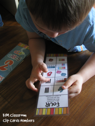 Numbers 1 to 10 Clip Cards for Busy Bag and Fast Finishers Math Center