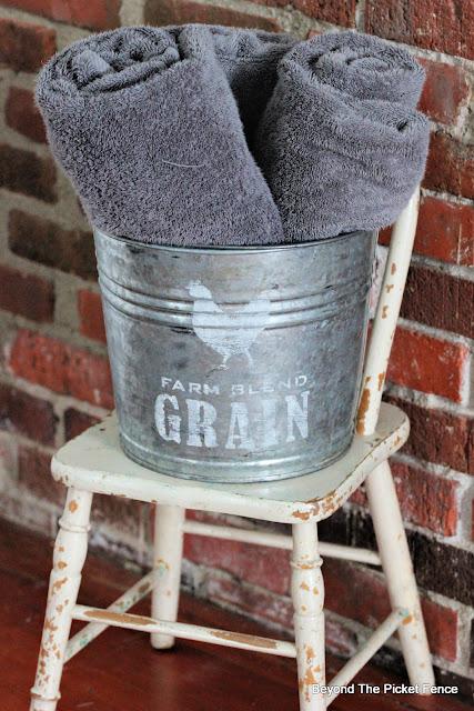 Rustic Farmhouse Grain Seed Bucket