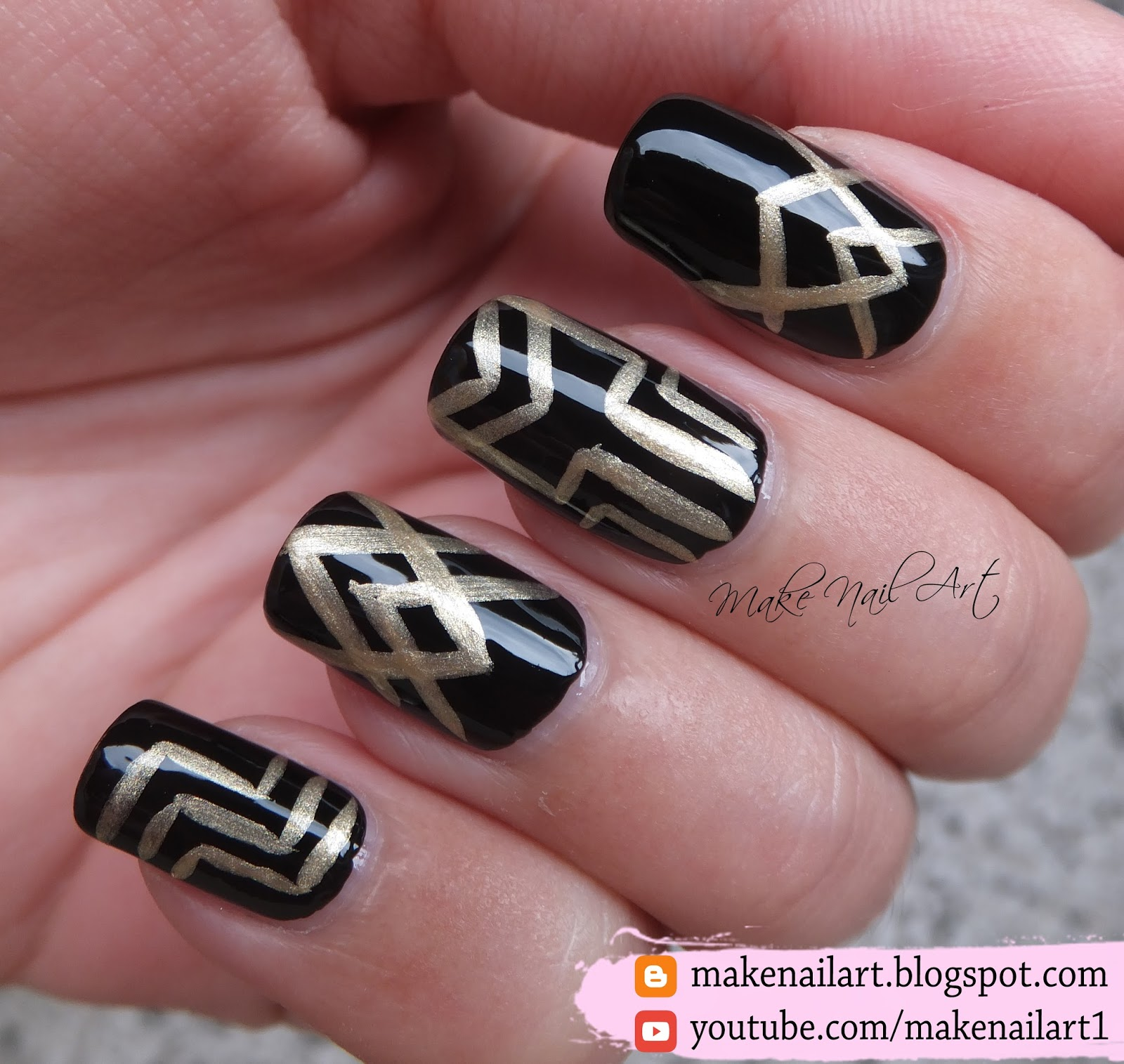 Make Nail Art: The Great Gatsby Nail Art Design (31DC2016)