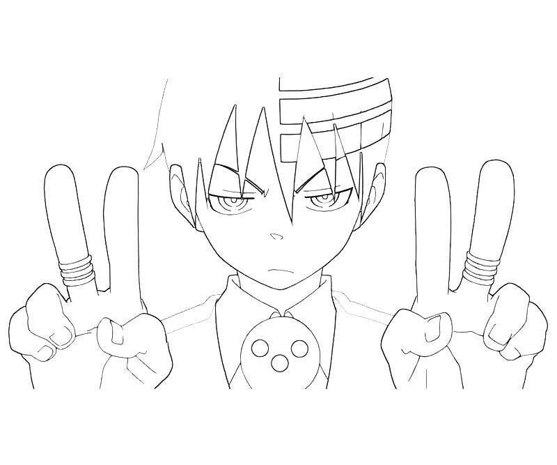 Soul in his humanoid form in Soul Eater coloring pages   Coloring ...   667x800