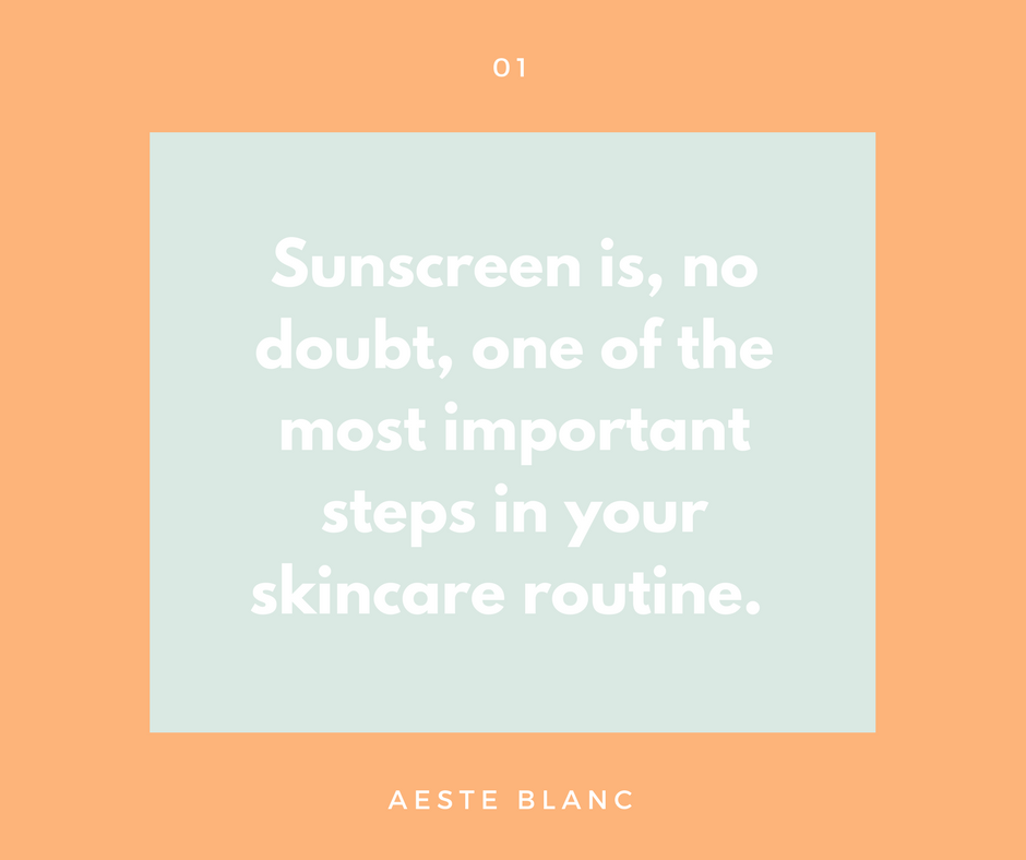 THE ULTIMATE SUNSCREEN GUIDE | AESTE BLANC