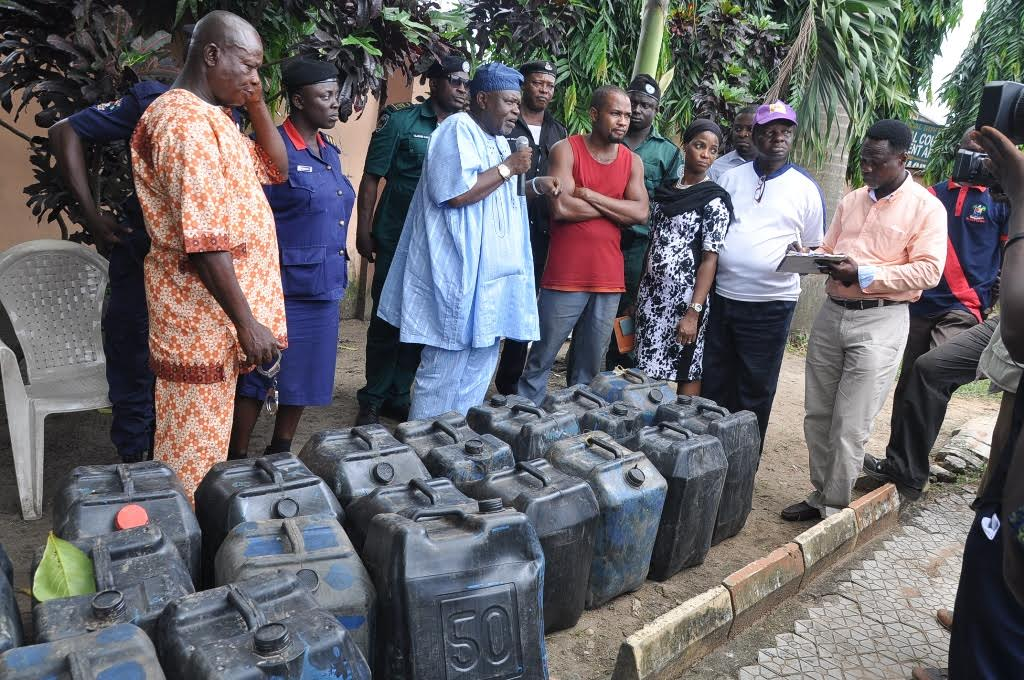 oil thief arrested lagos