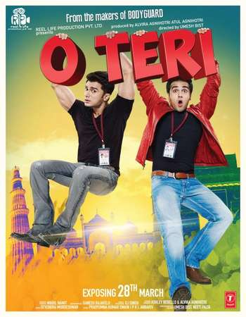 Poster Of O Teri 2014 Hindi 130MB DVDRip ESubs HEVC Mobile Watch Online Free Download Worldfree4u