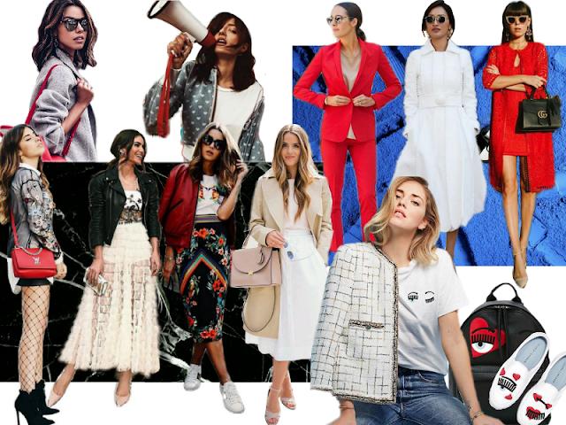 collage de 10 fashion bloggers influyentes en el mundo