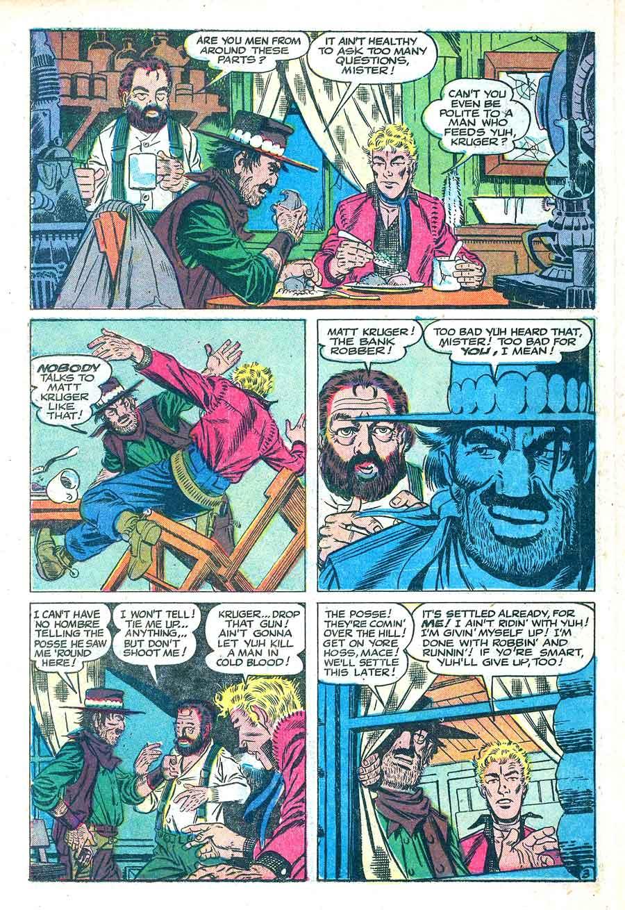 2-Gun Western v1 #4 - Steve Ditko charlton western golden age 1950s comic book page art