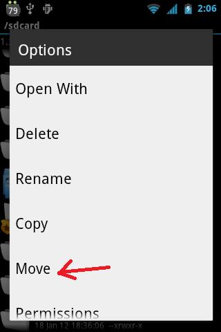 gambar ini menunjukan bagaimana cara move script