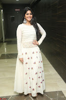 Megha Akash in beautiful White Anarkali Dress at Pre release function of Movie LIE ~ Celebrities Galleries 012.JPG