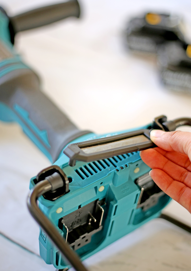 remove the dust cover to clean the tool's air vents whenever they start to become obstructed.
