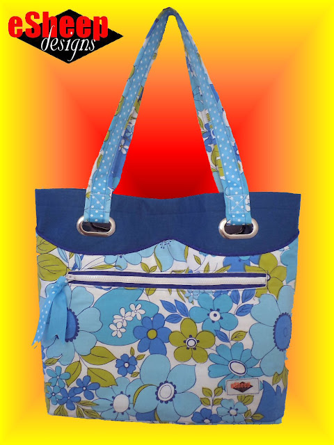 Customized Sew4Home Market Tote crafted by eSheep Designs