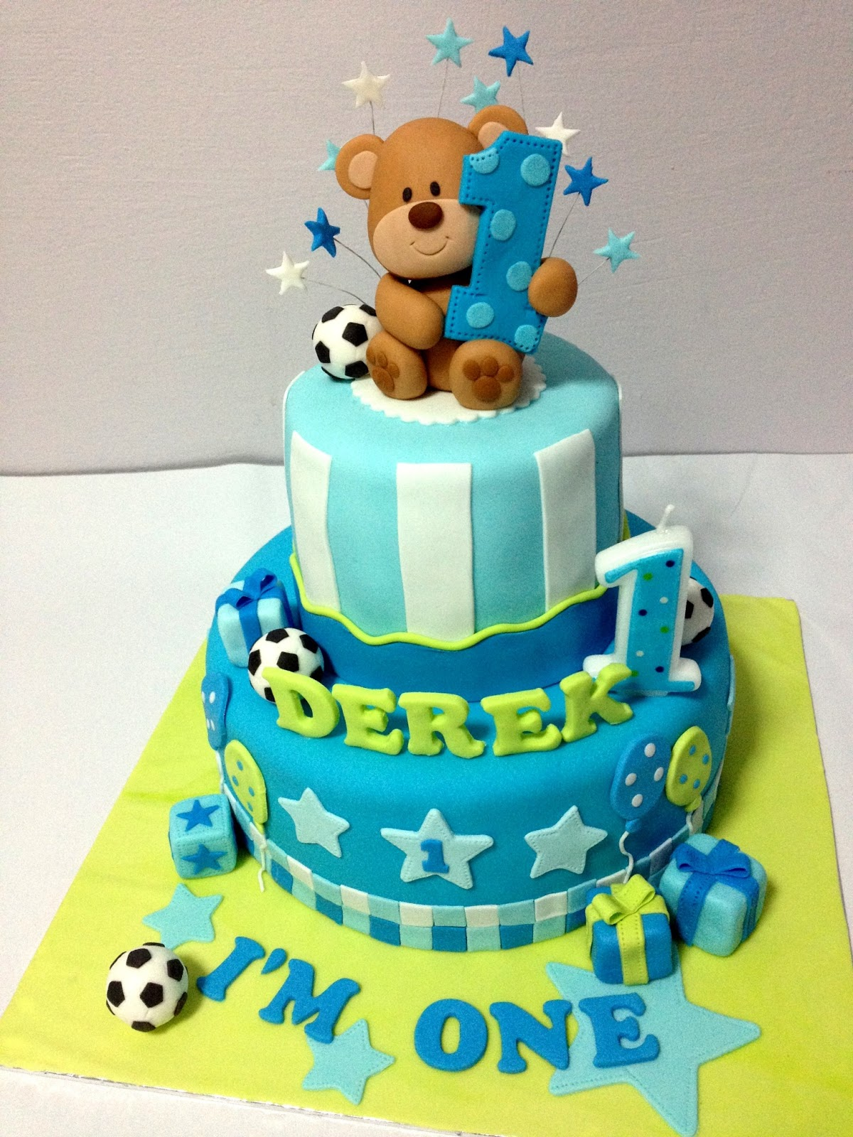 First Happy Birthday Cake Images With Teddy Bear