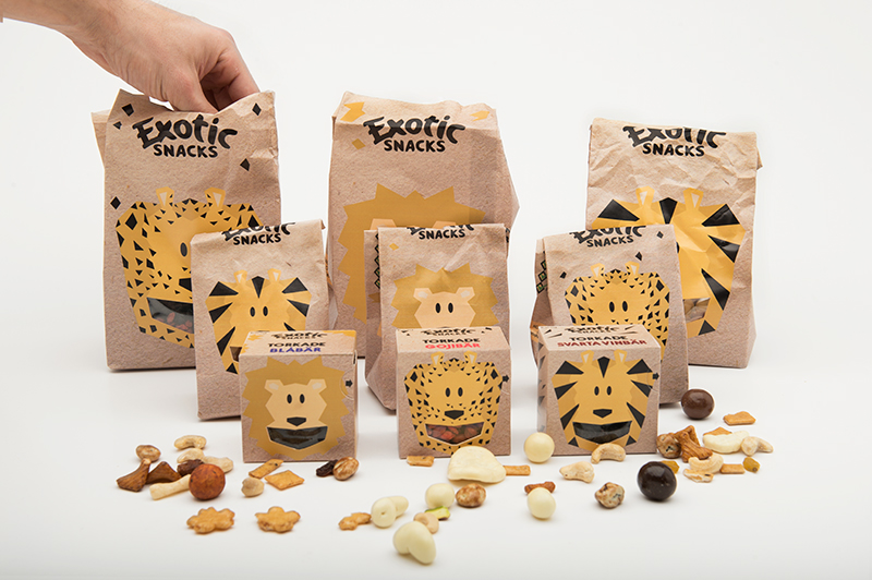 Exotic Snacks Kids Concept Student Project on Packaging of the World  Creative Package Design