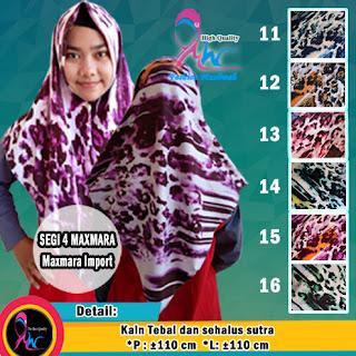 Jilbab segi empat maxmara import motif bunga murah(1)