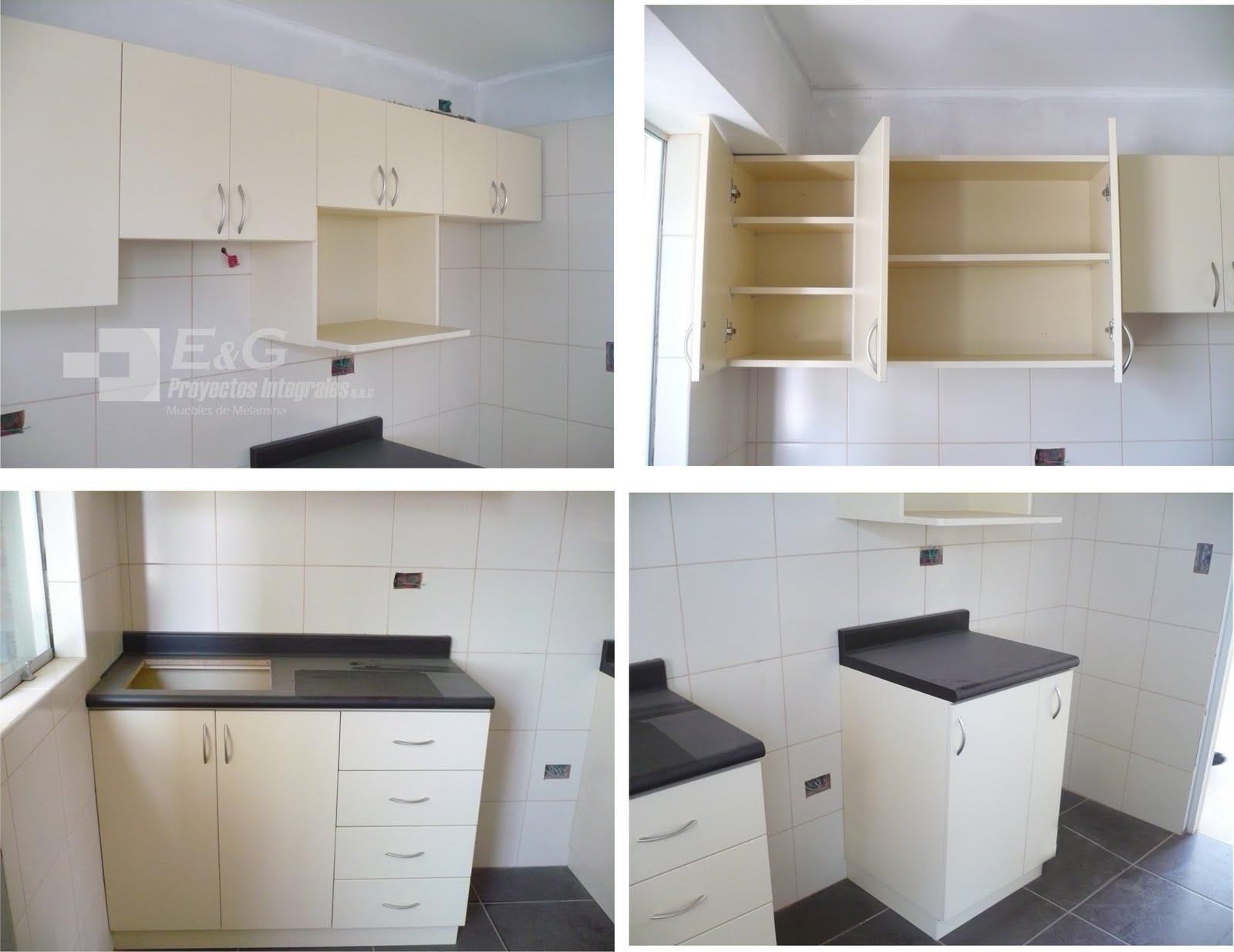 E y g proyectos integrales muebles en melamina aluminio - Muebles cocina modulos ...