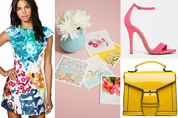 Pinterest Finds - Brights and Floral Fashion