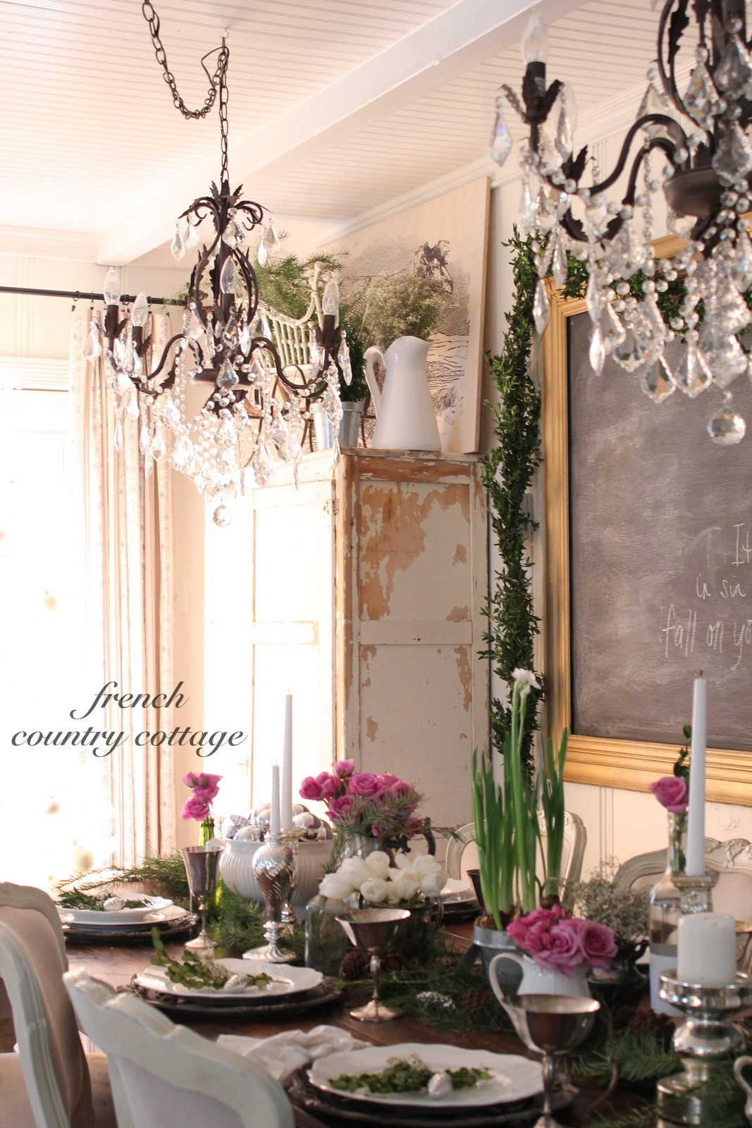 French Country Office Design: Romantic Holiday Dining