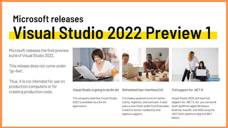 Visual Studio 2022 (64-bit) Public Preview build is now available for download