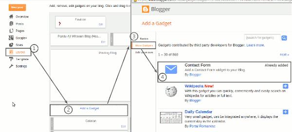 Cara Membuat Contact Form Sederhana di Blogger