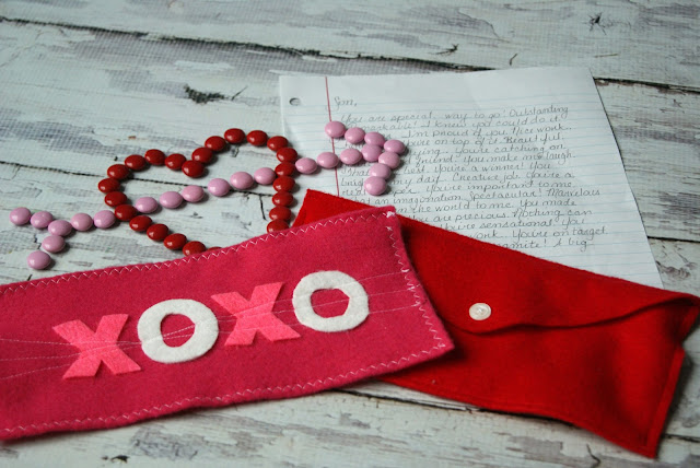 Valentine's Day Craft Idea XOXO Love Letters from Posh Pink Giraffe