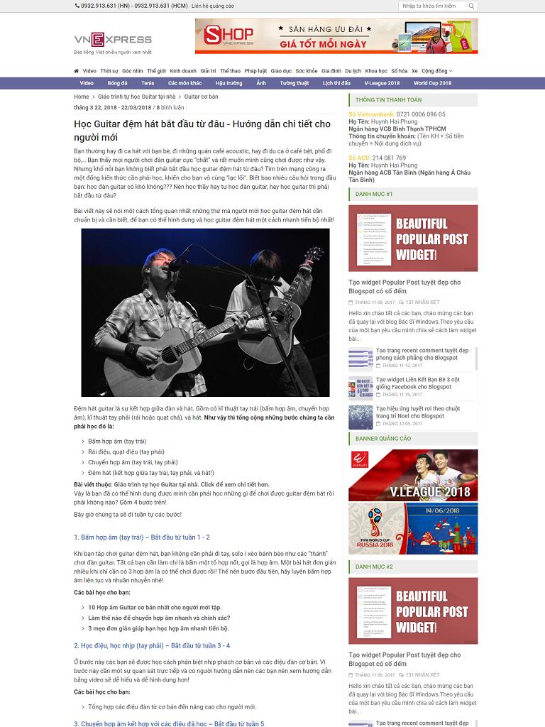 Theme blogspot VnExpress magazine 3.0 chuẩn seo - Ảnh 2