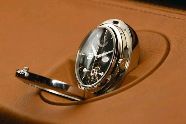 Bugatti Galibier removable dashboard clock