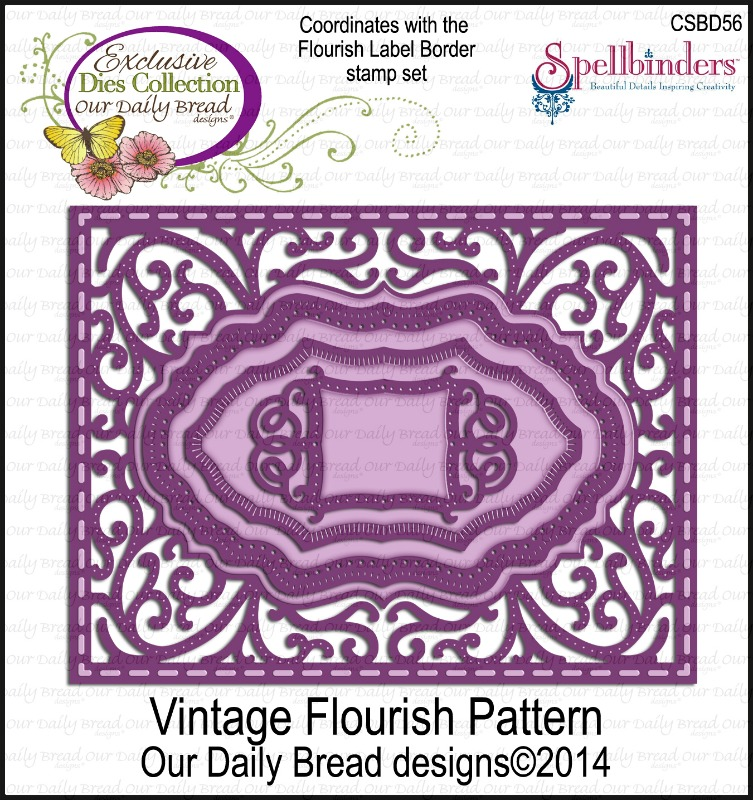 Die- Our Daily Bread Designs Custom Flourish Pattern Die