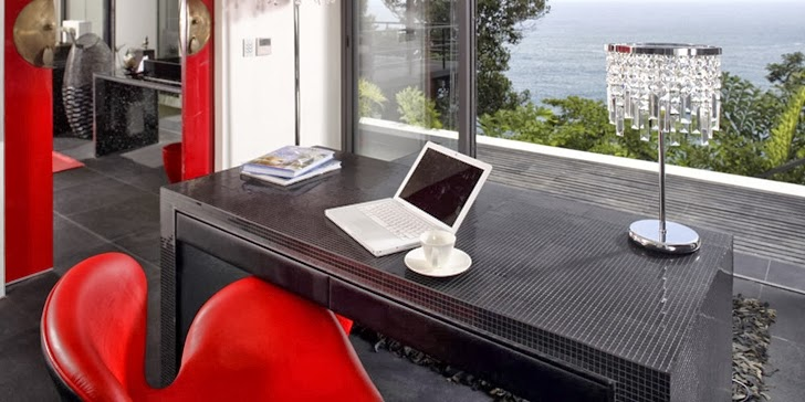 Working desk in an Amazing contemporary Villa Yin in Phuket