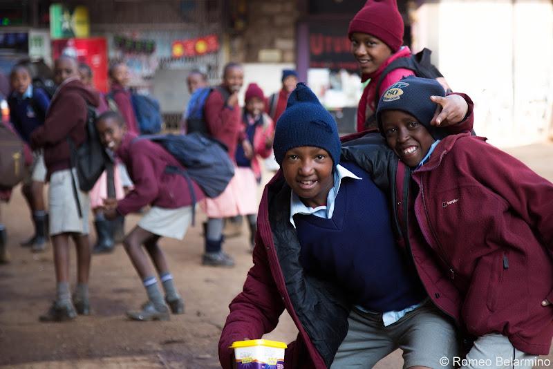 Limuru School Children Volunteering in Kenya with Freedom Global