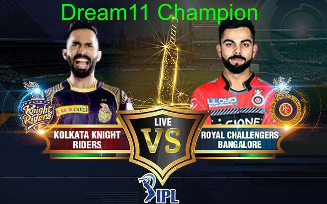 100% winning dream11 team KKR vs RCB Dream11 Team, Probable