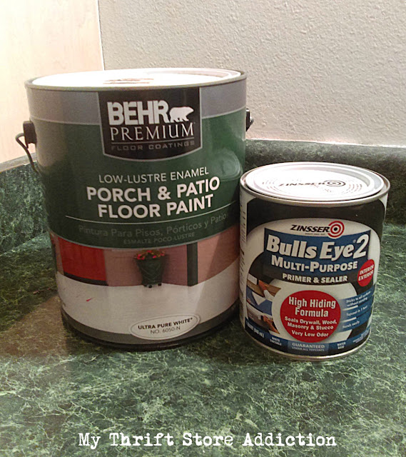 DIY painted and stenciled flooring