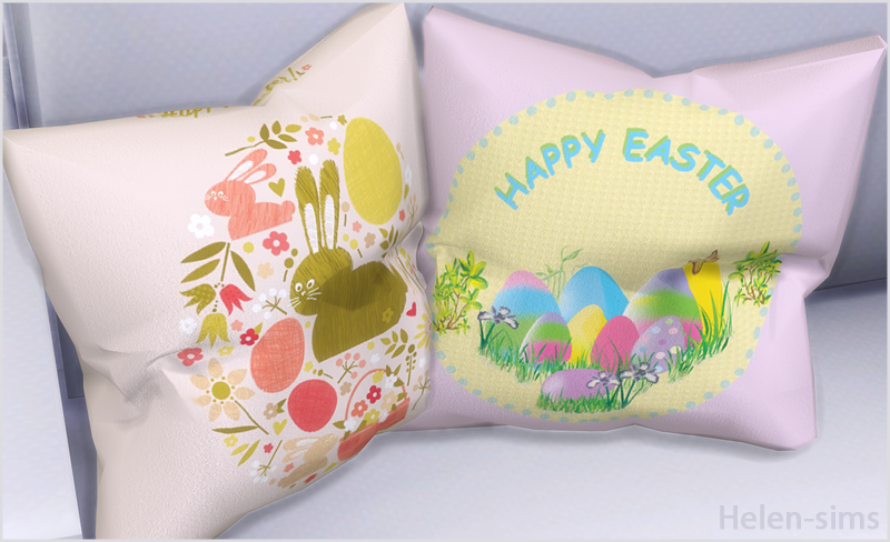 Helen-sims: TS4 Easter pillow