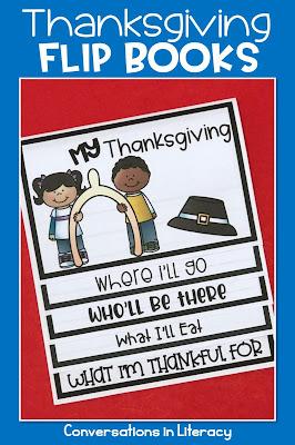 Thanksgiving writing flip book