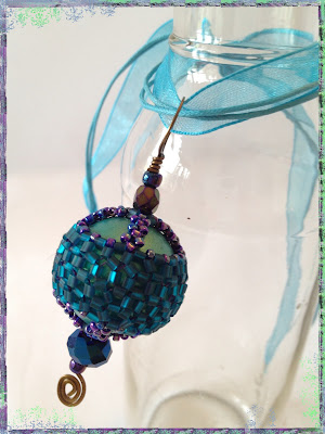 Corset & Stays beaded bead pendant by artist Karen Williams