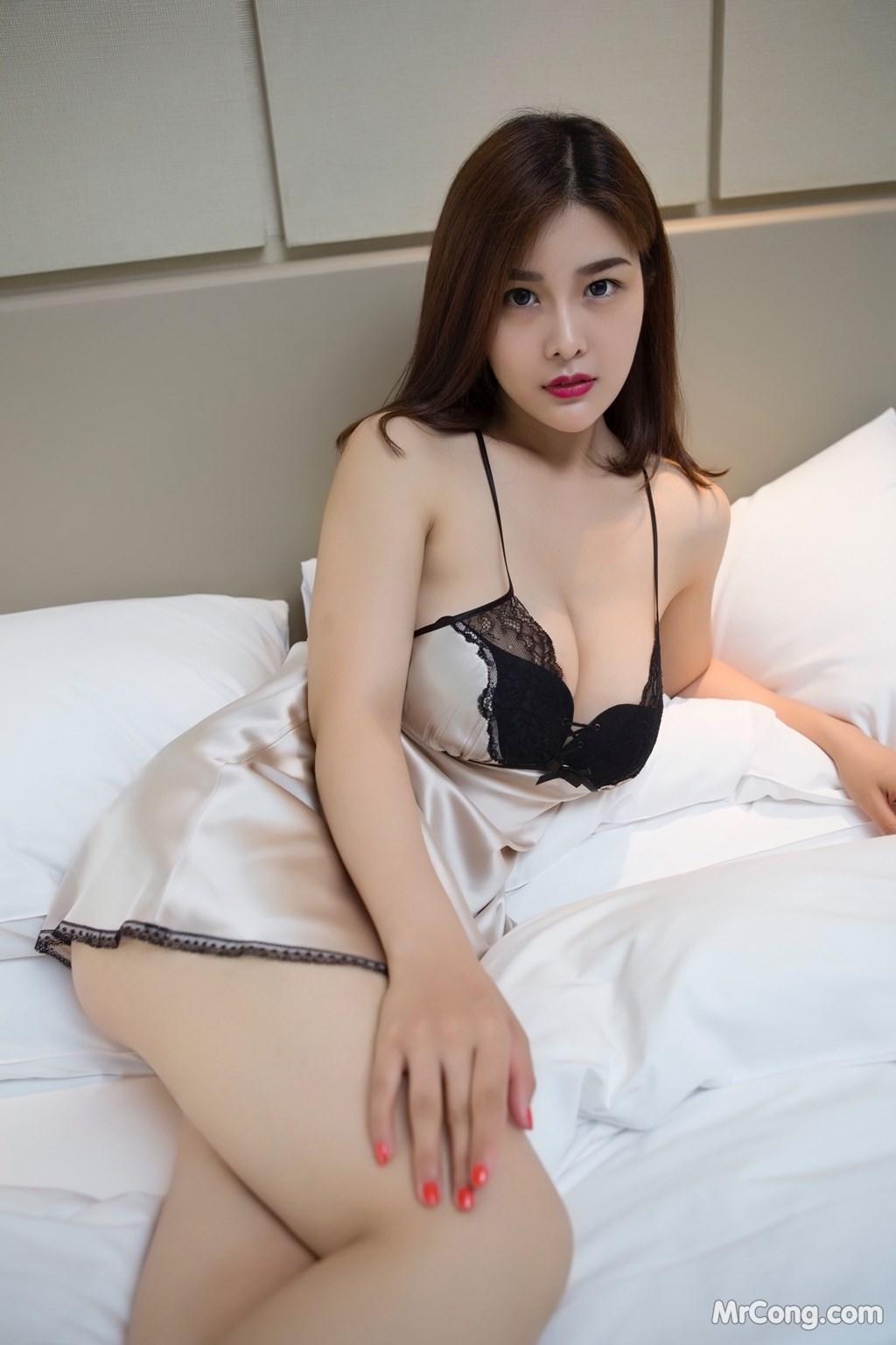 Image Yan-Pan-Pan-Part-5-MrCong.com-001 in post Ngắm người đẹp Yan Pan Pan (闫盼盼) khoe dáng sexy với váy ngủ (25 ảnh)