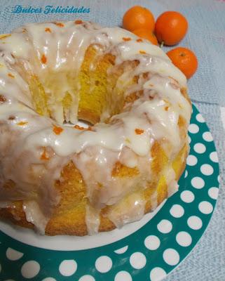 Bundt cake o bizcocho de mandarinas glaseado