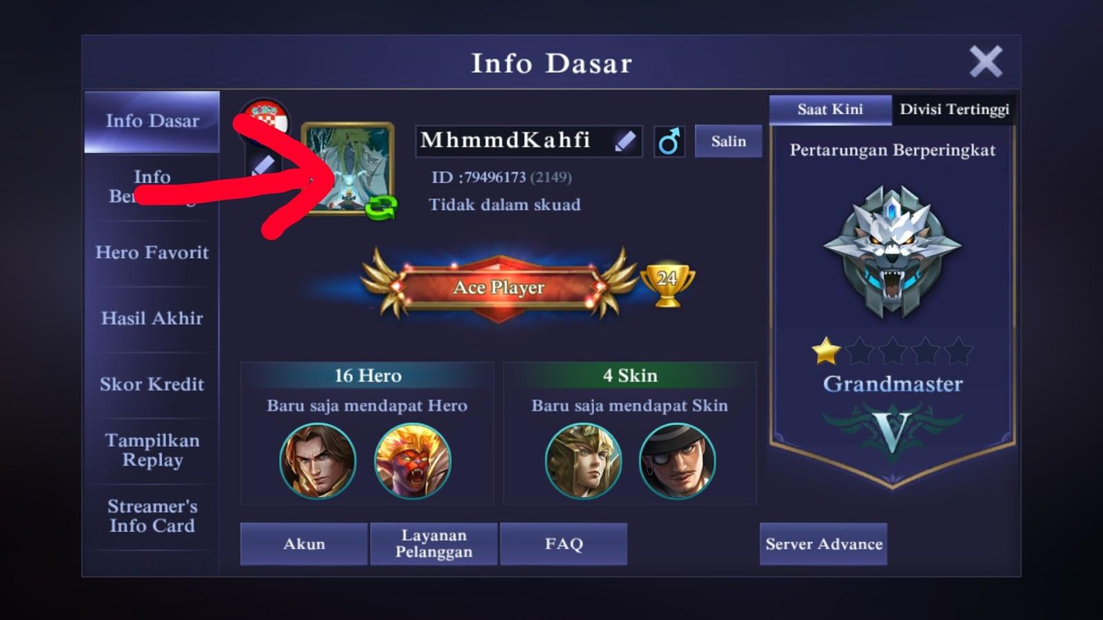 Cara Merubah Foto Profile Mobile Legends Jagoan Kode