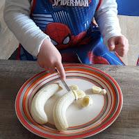 cuisine des petits enfants facile simple gâteau chocolat bananes