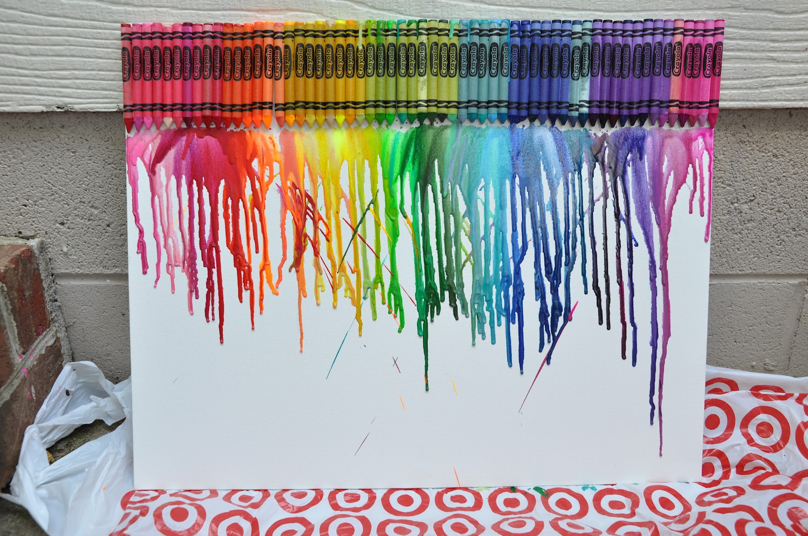 Little Bit Funky 40 Ideas Number 3 Melted Crayon Art