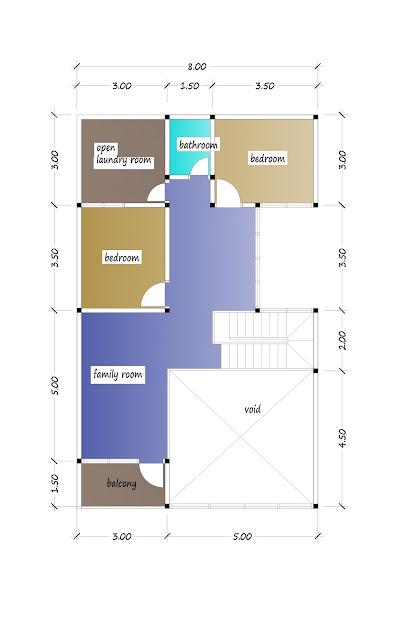 2nd floor plan of beautiful house plan 32
