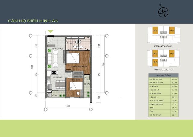 Thiết kế căn hộ A5 Hồng Hà Tower