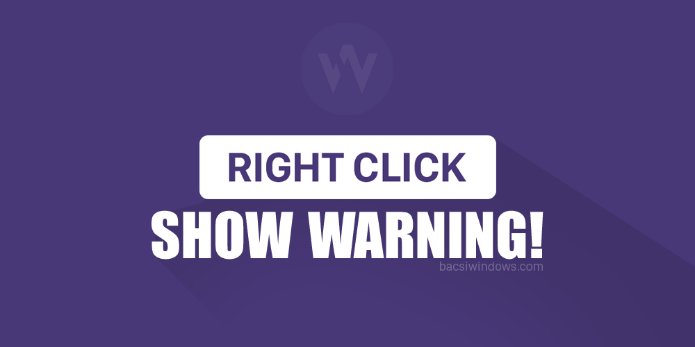 Hiện popup cảnh báo khi nhấn chuột phải trên Blogspot