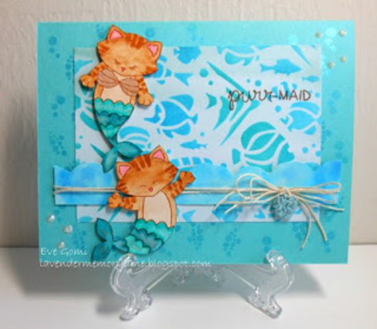 Purr-maid by Eve features Purr-maid and Tropical Fish by Newton's Nook Designs; #newtonsnook