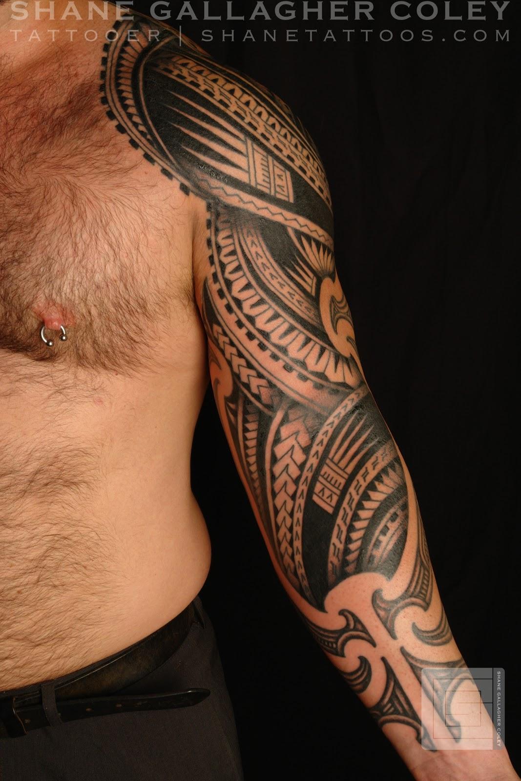 maori polynesian tattoo half maori half polynesian sleeve tattoo. Black Bedroom Furniture Sets. Home Design Ideas