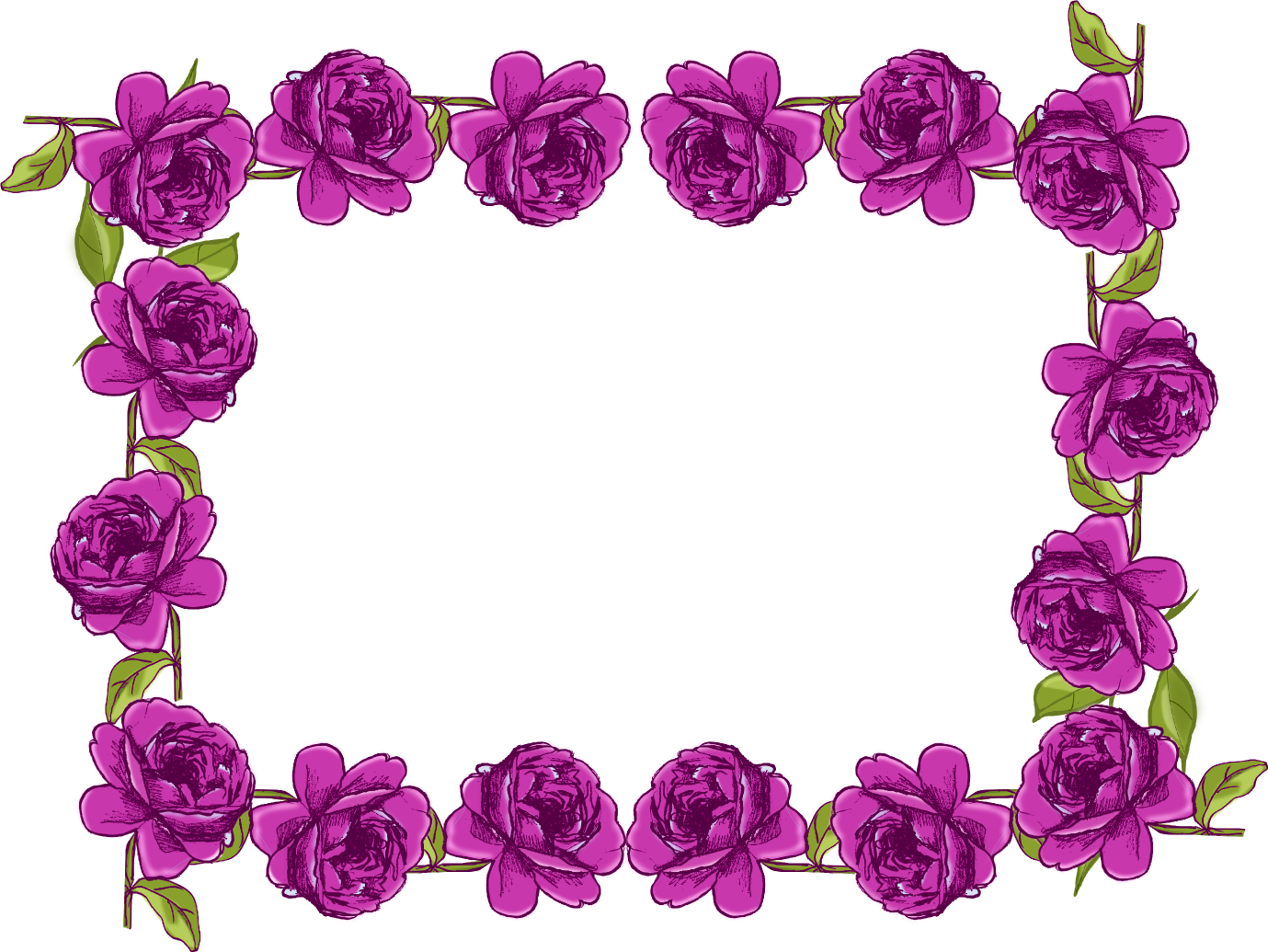 Free digital purple rose frame and border in vintage ...