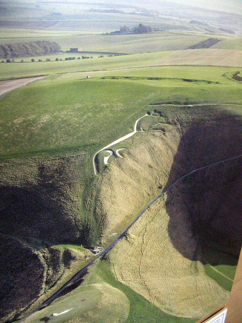 Aerial photograph on display in the Tom Brown's School Museum in Uffington.