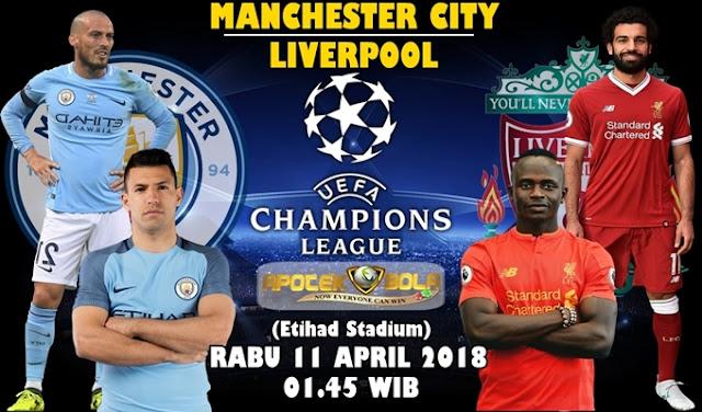 Prediksi Manchester City vs Liverpool 11 April 2018