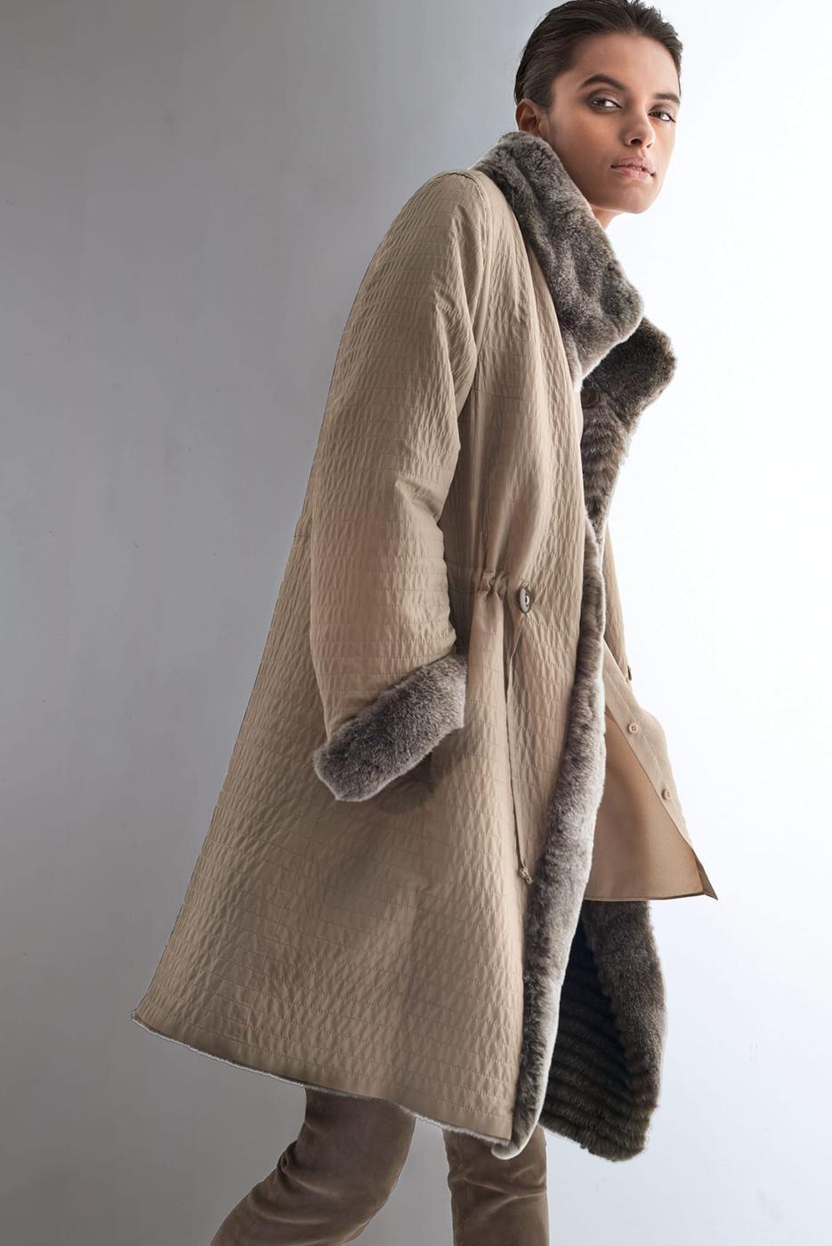 Madeleine Reversible Jacket Taupe